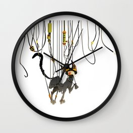 "Lili B. ""Entangled cat"" Wall Clock"