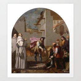 CARDUCHO, VICENTE Florencia, 1576 - Madrid, 1638 Prior Boson Revives a Mason 1626 - 1632. Art Print