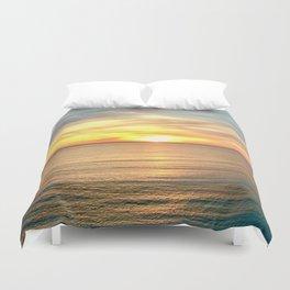 Tranquil Beach Sunset Duvet Cover
