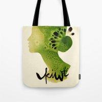 kiwi Tote Bags featuring Kiwi by Ekaterina Koroleva