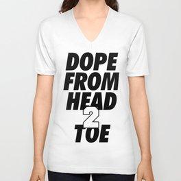 Dope Head 2 Toe Unisex V-Neck