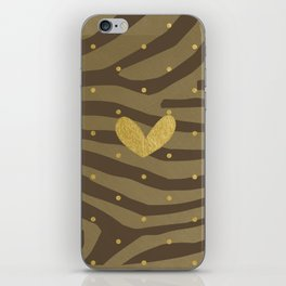 Classy Gold Print and Dots iPhone Skin