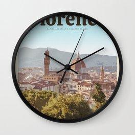 Visit Florence Wall Clock