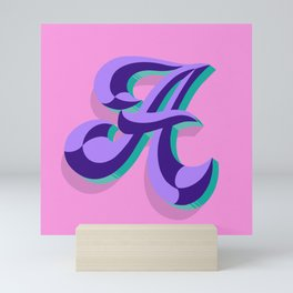 Letter A - 36 Days of Type Mini Art Print