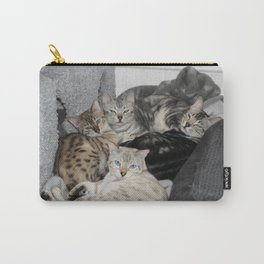 Bengal Cat Kitty Pile  Carry-All Pouch