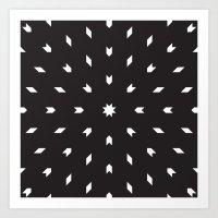 Black & White Geometrics Art Print