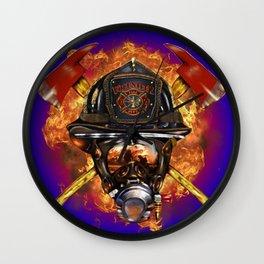 Firefighter rescue volunteer Wall Clock