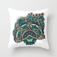 glass Throw Pillows featuring Glass by J. Fuller
