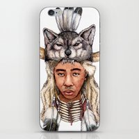 tyler the creator iPhone & iPod Skins featuring WOLF / Tyler, The Creator by Daniel Cash
