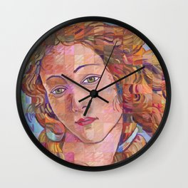 Variations On Botticelli's Venus – No. 1 Wall Clock