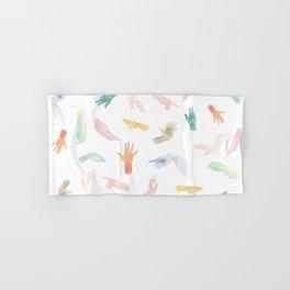 Watercolor Hands Pattern Hand & Bath Towel