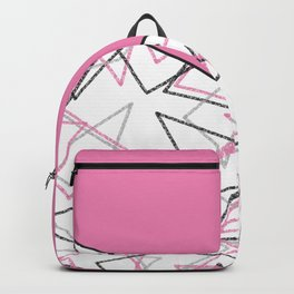 Abstract pink combo pattern . Backpack