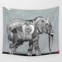 Elephant in Armour Wall Tapestry