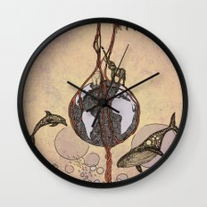 Earth melody Wall Clock