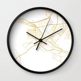 ABU DHABI UNITED ARAB EMIRATES CITY STREET MAP ART Wall Clock