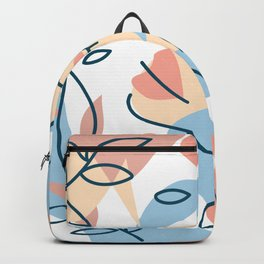 portrait girl dream and flowers Backpack