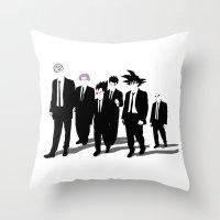 reservoir dogs Throw Pillows featuring Reservoir Warriors by ddjvigo