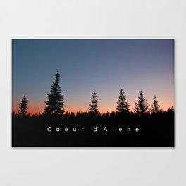 Coeur d Alene, Idaho Canvas Print