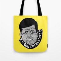 jfk Tote Bags featuring JFK by The Ceza