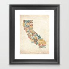 California by County Framed Art Print