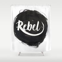 rebel Shower Curtains featuring Rebel by thezeegn