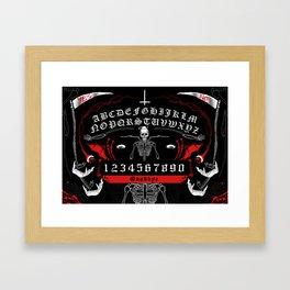 OUIJA Board Skull Framed Art Print