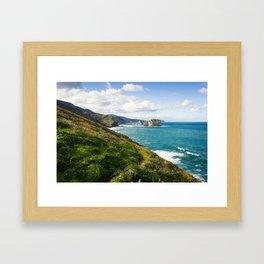 Basque Country coast landscape Framed Art Print