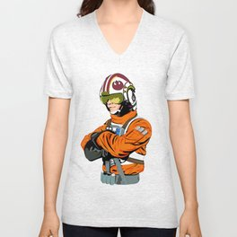 X-Wing Pilot Illustration  Unisex V-Neck