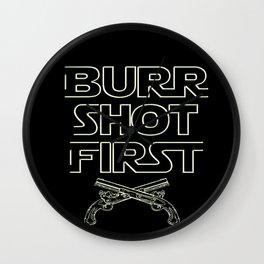 Burr Shot First Wall Clock