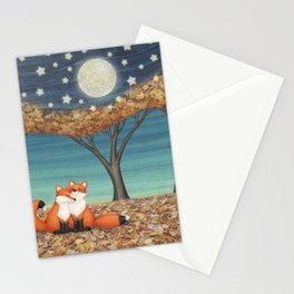 cuddly foxes Stationery Cards