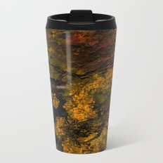 Autumn Leaves and Stream Metal Travel Mug