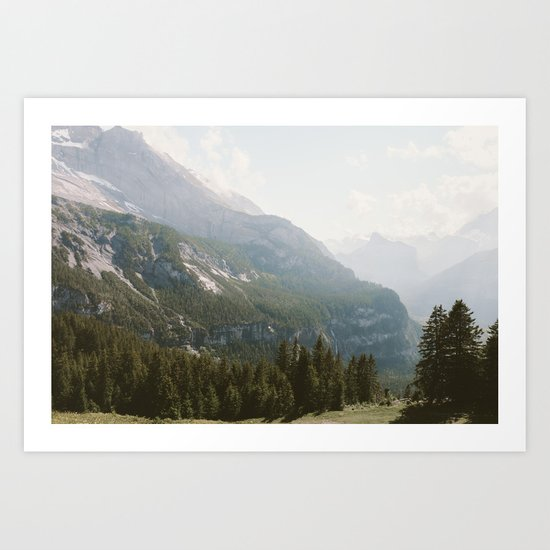 A Switzerland Mountain Valley - Landscape Photography Art Print