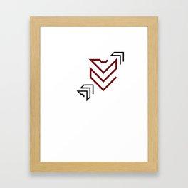 Arrow to your heart Framed Art Print