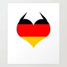 German Heart Germany Deutschland Horns product Flag Gift design Art Print