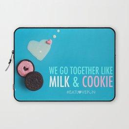 We Go Together Like Milk & Cookie Laptop Sleeve