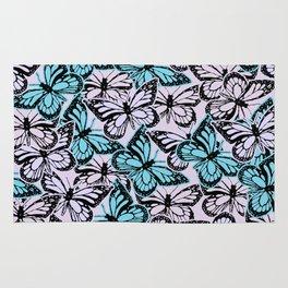 Vintage Butterflies Rug