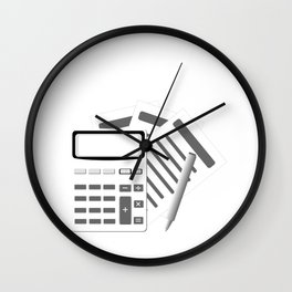 Account Funny Accountants Have a Tax To Grind Accounting Gift Wall Clock