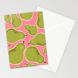Pear Pattern Stationery Cards