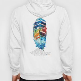 Colorful Feather Art -  Blessing - By Sharon Cummings Hoody