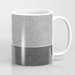 Abstract combo pattern light grey and dark grey . Coffee Mug