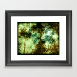 Forest Memories In Green Framed Art Print