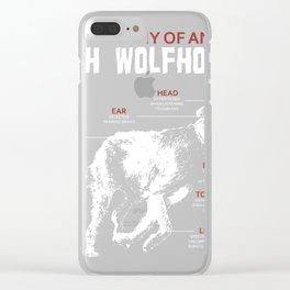 Irish Wolfhound Owner Tee | Anatomy of Irish Wolfhound Gift Clear iPhone Case