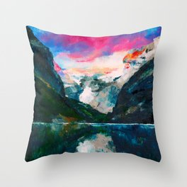 Fjord in Norway Throw Pillow
