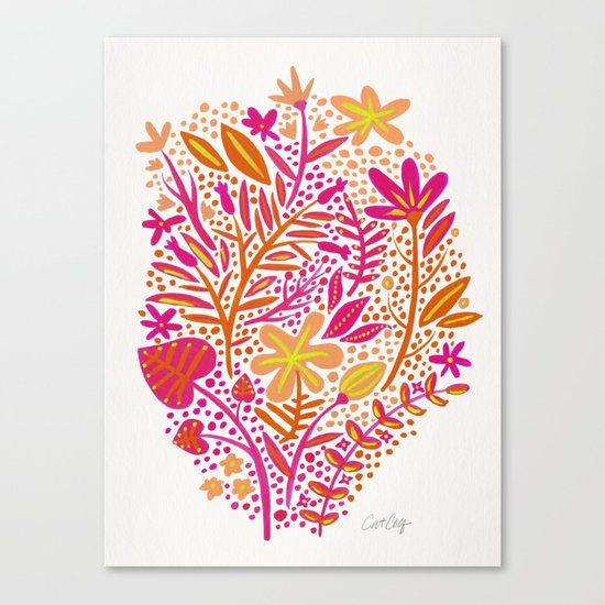 Garden – Citrus Palette Canvas Print