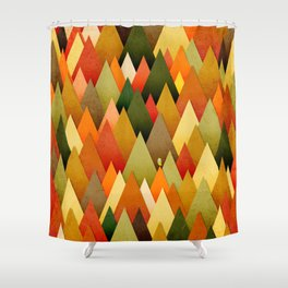 071 – deep into the autumn forest texture II Shower Curtain