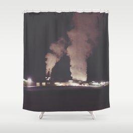 Industrial Fog Shower Curtain