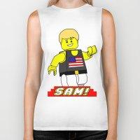 sam smith Biker Tanks featuring Sam by Millennium Gorilla