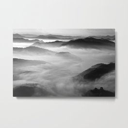 Misty Mountain Haze Metal Print