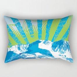Mt. Alyeska Ski Rise by Crow Creek Cool Rectangular Pillow