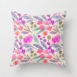 spring floral p Throw Pillow